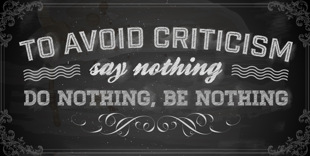 In praise of criticism-albeit with gritted teeth
